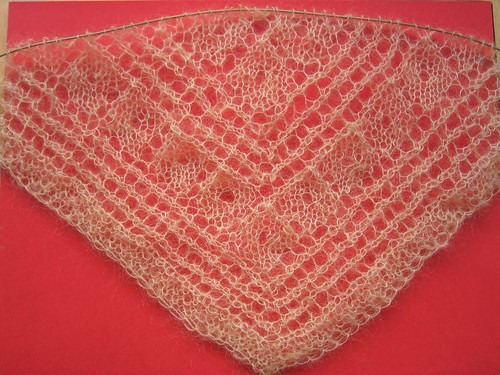 Gail's shawl, 71th row