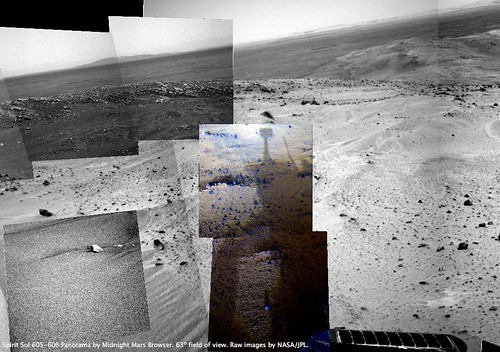 Spirit Sol 606 - Sunset Shadows Context