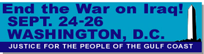 March on Washington, Sept. 24-26!