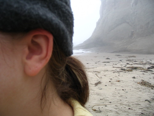 my ear at the beach