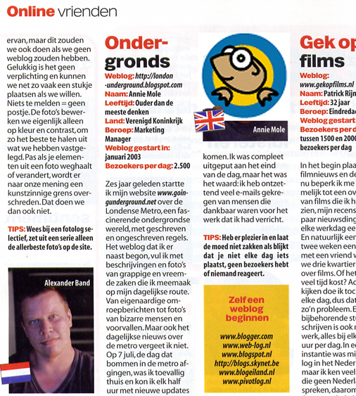 London Underground Blog on Dutch magazine Computer Idee