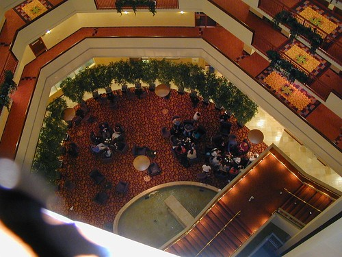 Botcon 2005 - View from our floor. See geeks.