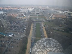 Pemandangan Brupark dari atas Atomium, Brussels, Belgium