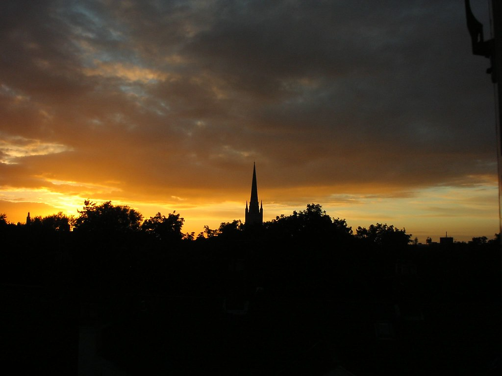 From my bedroom window: sunset 1/10/05