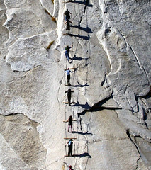 doug and alex on half dome chains