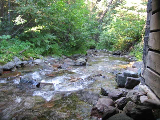under the grave creek bridge