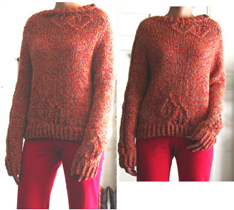 Lace Leaf Pullover 1