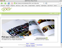 QOOP & Flickr photo printer