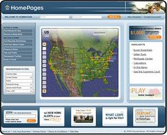 Homepages real estate site integrates mapping