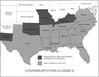 Civil War South Map