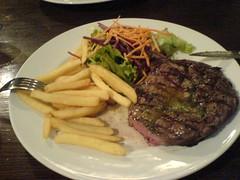 12oz steak from The Grape, Edinburgh