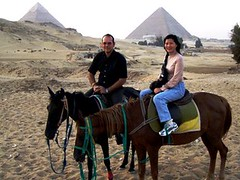 By horse to the Pyramids