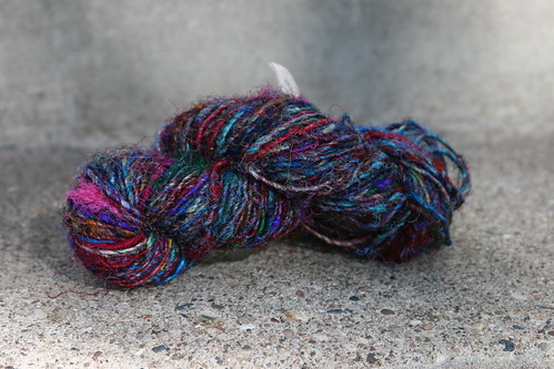 recycled silk sari yarn - 1 hank