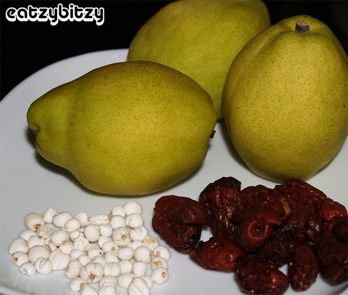 Steamed Pears Ingredients