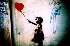 Banksy love photo by Maya Newman