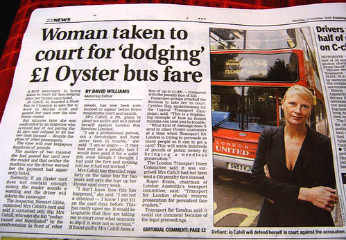 Oystercard Fare Evader may go to court over £1.20