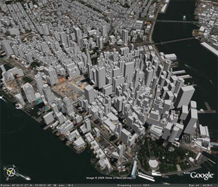 Manhattan par Google Earth