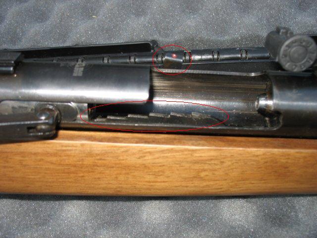 扳机的保险是在压簧的时候自动设置的,要向前把 ...