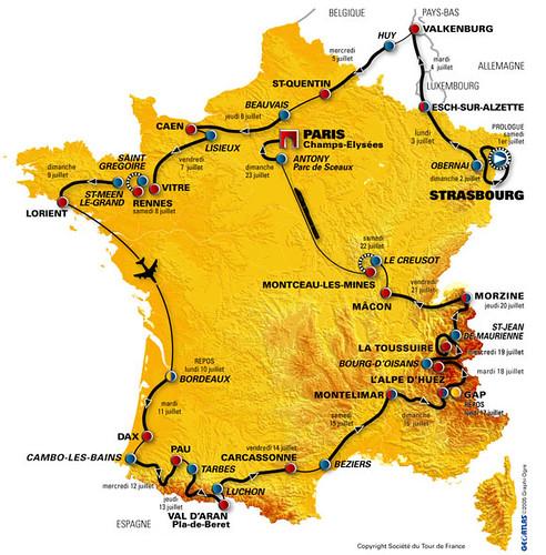 Tour de France 2006 map