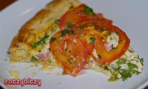Tomato Ricotta Tart Slice