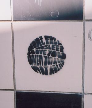 Don't fall asleep wall art