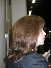 a side shot: untamed hair