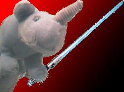 Rhino paracaidista jedi