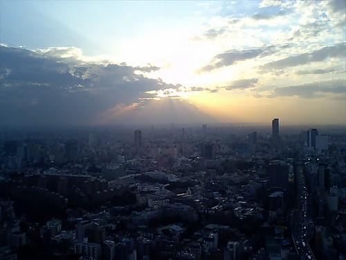 sunset from Roppongi Hills, Tokyo