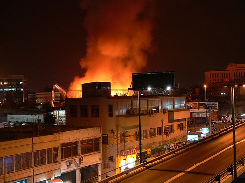 Ночной пожар в Тель-Авиве