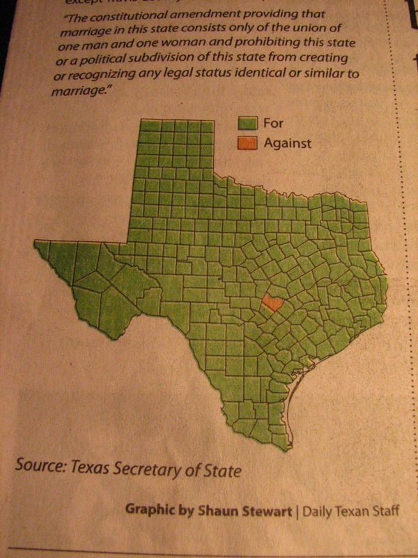 graphic respresentation of Texas' homophobia