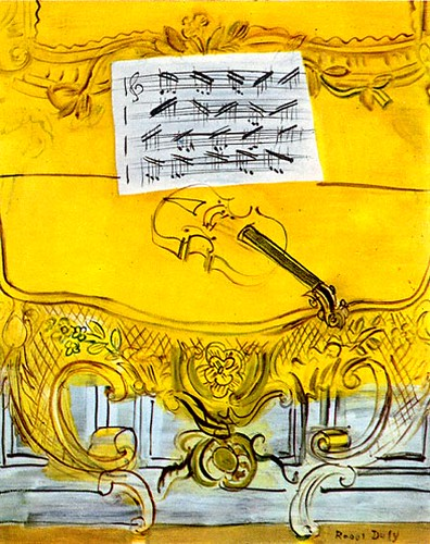 Dufy yellow violin