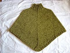 Green Tweed Poncho