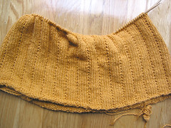Gold Cotton V-neck Sweater