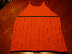 Orange Sweater Completed Front