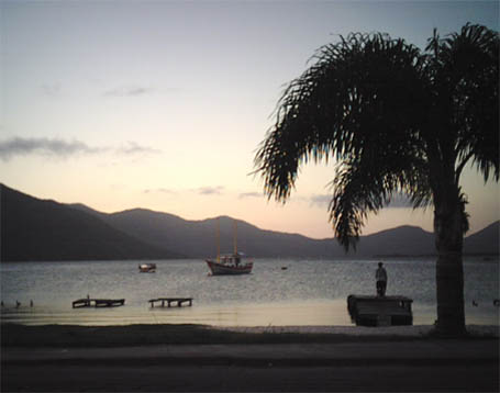lagoa da conceicao by sunset