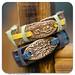 916 - Hard leather pottery braselet