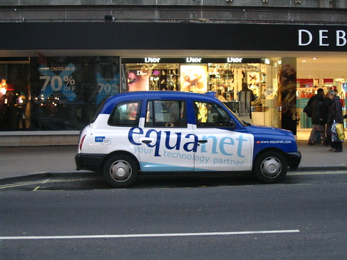 ipub carte publicitaire de Ge et Jean ju Europe 2006 london cab