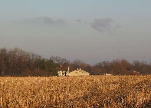 Farm House at Sunset