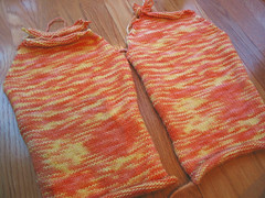 Creamsicle T - sleeves done!