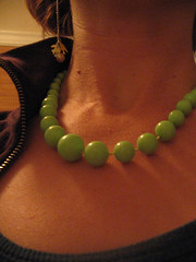 lime necklace & sparrow earrings!