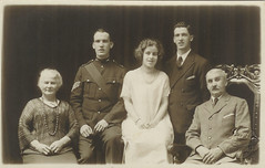 from the left you have Elizabeth Ann Steele, Wilfred Denis, Beatrice Gladys, Edward John and William Paddison Collins