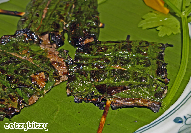 Grilled Beef in Betel Leaves