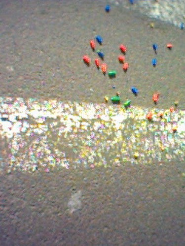 legos on street