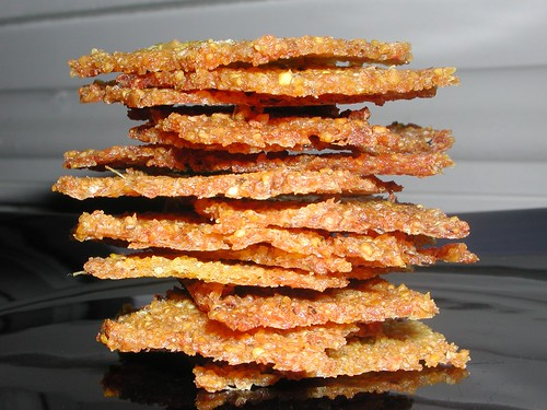 Polenta crackers