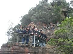 Turun Tangga untuk ke Three Sisters Kat Blue Mountains, Australia