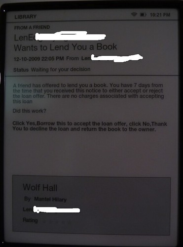 Nook Loan Screen
