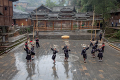 Guizhou : Fanpai village, Miao Wooden Drum Dance #3 photo by foto_morgana