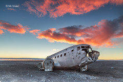 DC-3 Plane Wreck at Sunset photo by Michael Straker