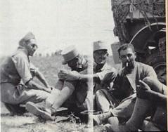 1942 - Après Bir Hakeim - de gauche à droite Ltnt DUREAU, ap WAGNER, Cap de SAIRIGNE, x, Adjdt chef OTTL