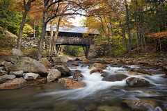 Flume Covered Bridge photo by Eric Gendron Photography